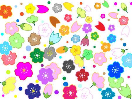 fresh graduate: Sakura Wallpaper Illustration