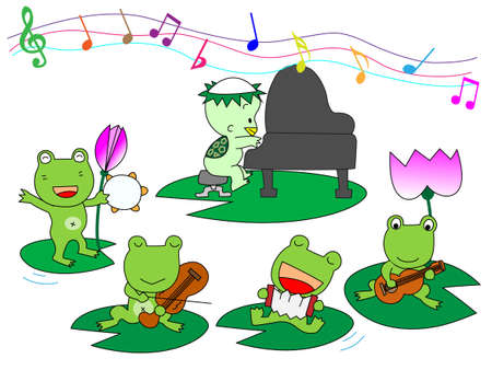 folk tales: Performance of frog