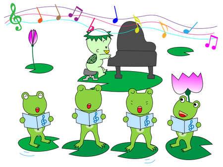 chorus: Frog Chorus Illustration
