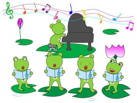 カエルの合唱 写真素材 - 37463052