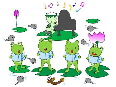 tadpole: Frog Chorus Illustration