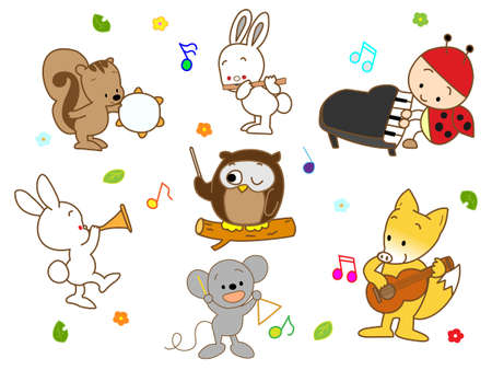 beat the competition: Concert of animal Illustration