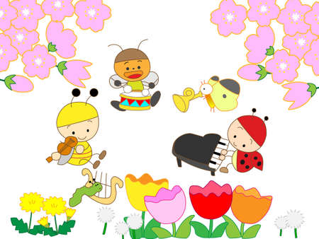 Concert of spring Vector
