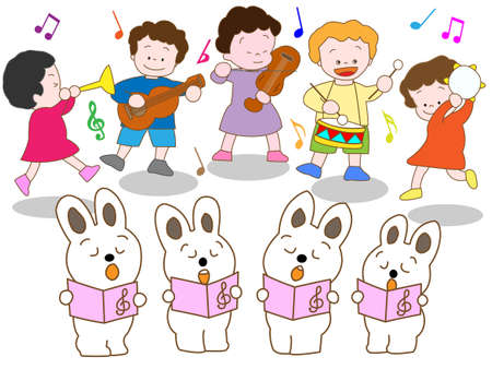 recital: Music recital Illustration