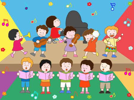 Music recital Illustration