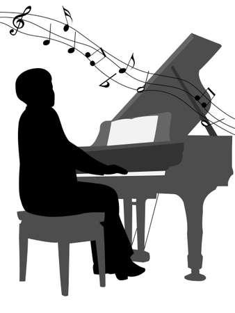 Pianist Çizim