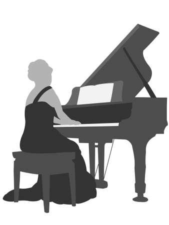 recital: Pianist Illustration