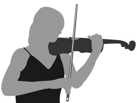 violinist: Violinist Illustration