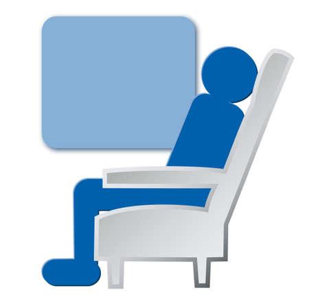 reclining: Vehicle icon