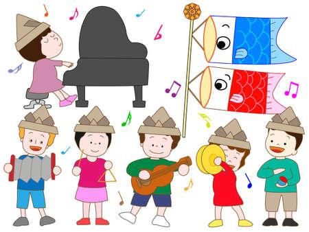 cymbals: Children's Day Illustration