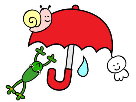 adverse: Rainy season Illustration