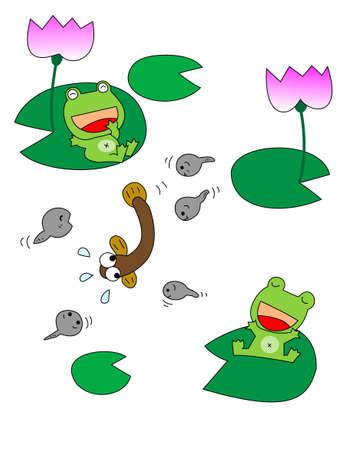 folk tales: Rainy season Illustration