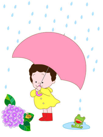 meteorological: Rainy season Illustration