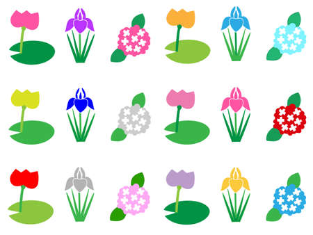 asian gardening: Rainy season icon Illustration