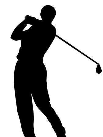 bogie: Golfer on white