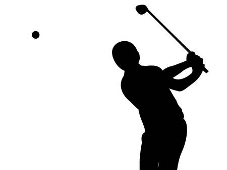 Golfer on white  Vector