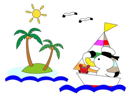 uninhabited: Summer Beach Illustration