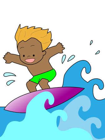 Surfing 向量圖像