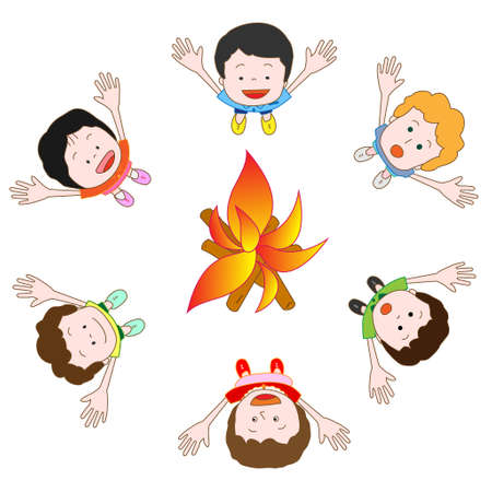 Camp fire Ilustração