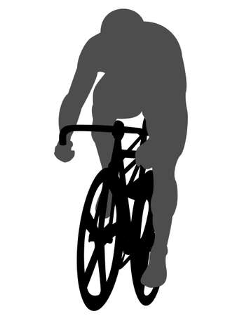 bicycle race: Bicycle race Illustration