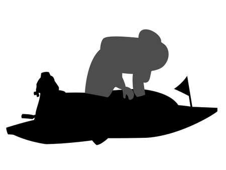 Boat race Vettoriali