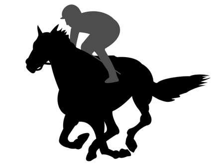 Horse racing Vettoriali