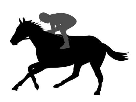caffe: Horse racing Illustration