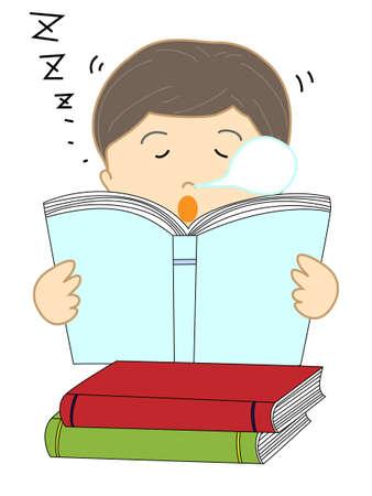 読書  イラスト・ベクター素材