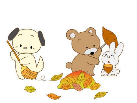焼き芋の季節  イラスト・ベクター素材