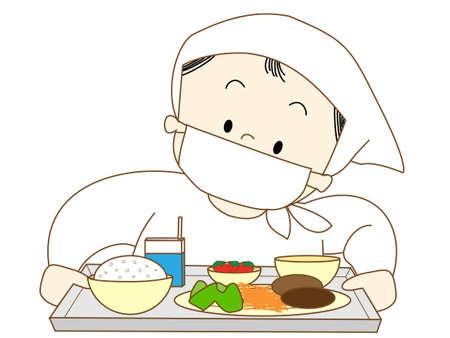 School lunch Vector Illustration