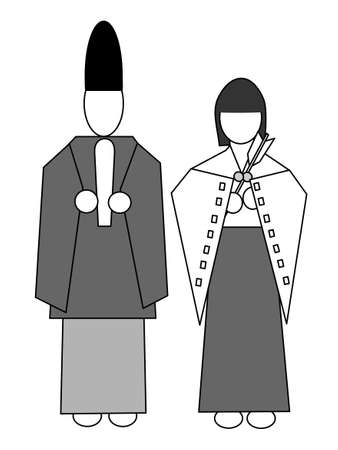 ex: Shinto priest and priestess icon