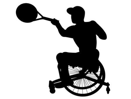 Wheelchair Tennis Vettoriali