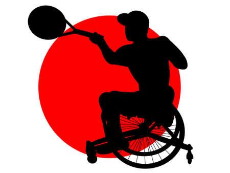 Wheelchair Tennis 向量圖像
