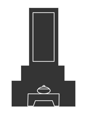 cripta: Icona Grave Vettoriali