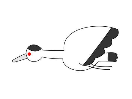 new year  s day: Crane icon