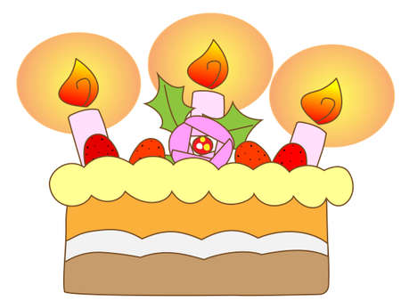 12 days of christmas: Cake on white