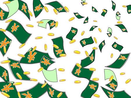 labor market: Future of Money Illustration