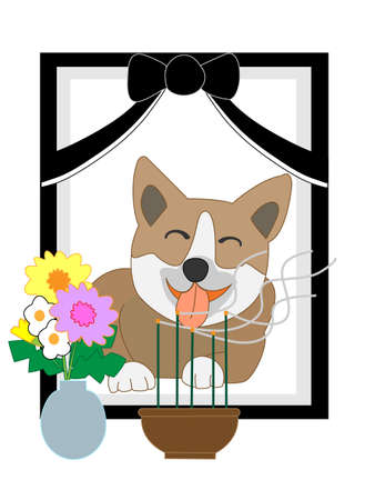 crypt: Pet portrait Illustration