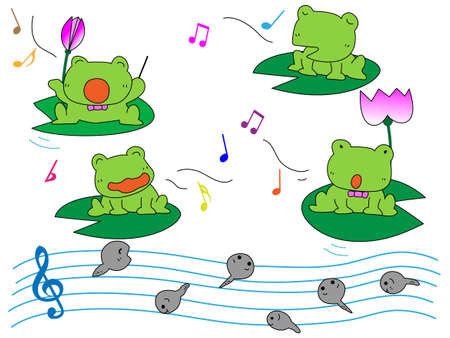 birdsong: Frog playing