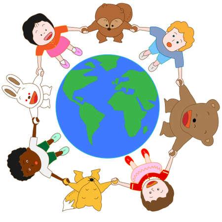 paz mundial: La paz mundial Vectores