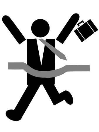 hard: businessman work hard