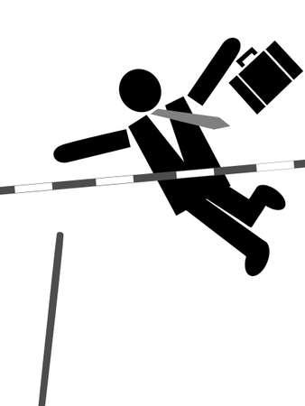 kemény: üzletember keményen dolgozik Illusztráció