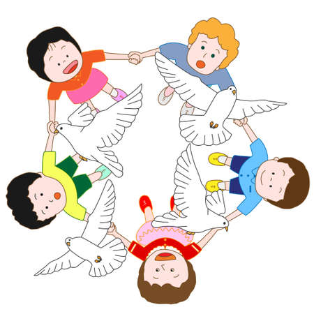 good s: Children who wish for peace Illustration
