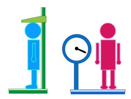 身体測定のアイコン  イラスト・ベクター素材