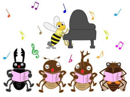 Insect chorus Illustration