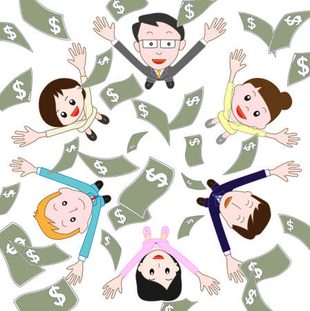 co workers: Future of Money Illustration