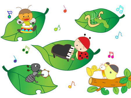 wakaba: Concert of insects Illustration