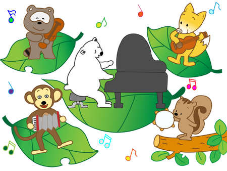 wakaba: animals playing music