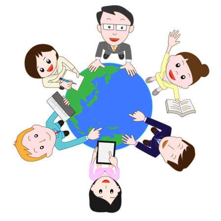 overseas: businessimage Illustration