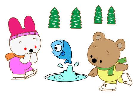 nursery tale: skating